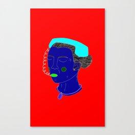 Anxious Lady Canvas Print