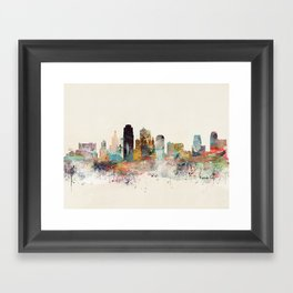 kansas city missouri Framed Art Print
