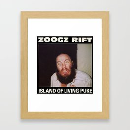 Zoogz Rift - Island of Living Puke Framed Art Print