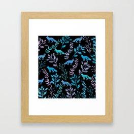 Watercolor Floral & Fox IV Framed Art Print