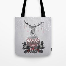 Christmas Deer (by Mariam & Nika) Tote Bag