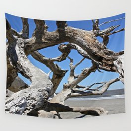 Beach Tree Wall Tapestry