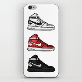 Air Force 1 Supreme White Red Black Sneaker Art iPhone Skin
