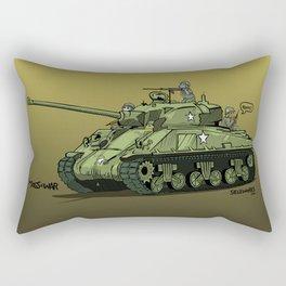 Dogs of War: Sherman Tank Rectangular Pillow