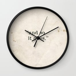 and so it goes Wall Clock