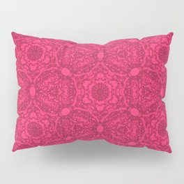 Bright Pink Lacey Pattern  Pillow Sham