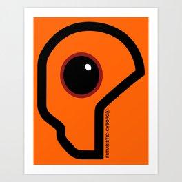 Futuristic Cyborg Logo 7 Art Print
