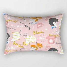 Blah Blah Ha Ha Rectangular Pillow