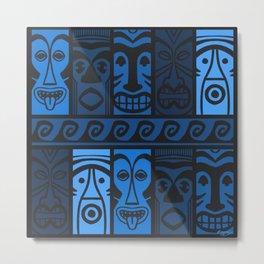 Blue Tikis! Metal Print