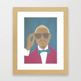 men illustrations collection Framed Art Print