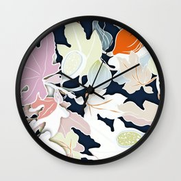 floral leaves Wall Clock