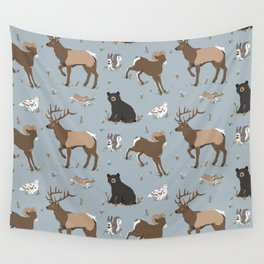 Rocky Mountain Critters Wall Tapestry