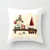 elf Throw Pillows featuring Elf by Erica_art