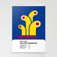 yellow submarine Stationery Cards featuring Pantone YELLOW SUBMARINE by Alberto Lamote de Grignon