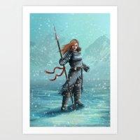 Artic girl Art Print