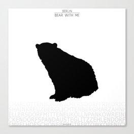 Berlin - Bear with me Canvas Print