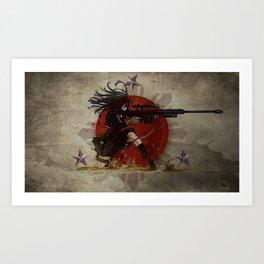 3stars and the rising sun tzu sniper_diva of death Art Print