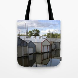 Minnesota Boat House Village Tote Bag