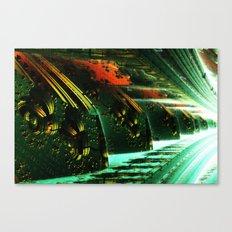 Cannon Battery (Pixel Explosion) Canvas Print