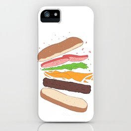 I don't hate you, I'm just hungry - Hamburguer iPhone Case