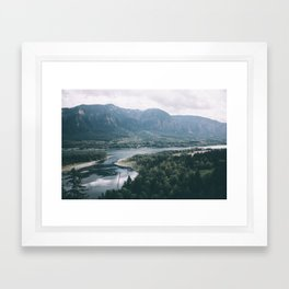 Columbia River Gorge IV Framed Art Print