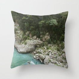 Hiking in France Throw Pillow