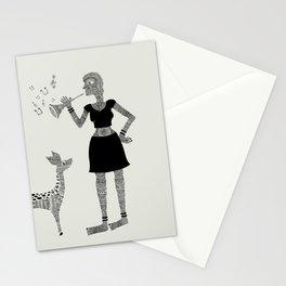 Patterned girl Stationery Cards