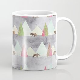 Bear in the Forest Rustic Cabin Theme Coffee Mug
