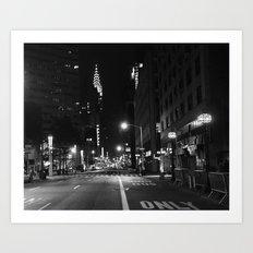 Lexington Ave.  1:15am Art Print