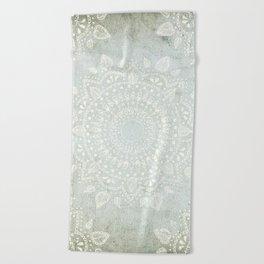 Powder Blue Mandala Beach Towel