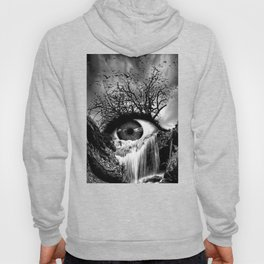 Cascade Crying Eye grayscale Hoody