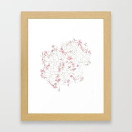 Flors Framed Art Print