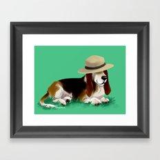 Spud the Basset Framed Art Print