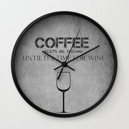Coffee and Wine! Wall Clock