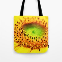 sunflower Tote Bags featuring Sunflower by Falko Follert Art-FF77