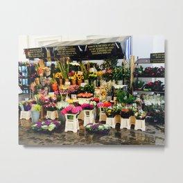 Flower Market Metal Print