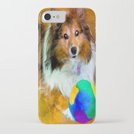 Sheltie with Ball iPhone Case