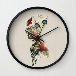 botanical woman. vintage style Wall Clock