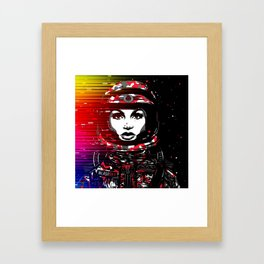 Astronaut Chick Framed Art Print