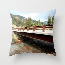 Bridge Over Mineral Creek Throw Pillow