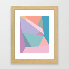 Fractured Triangles in Playful Color Framed Art Print