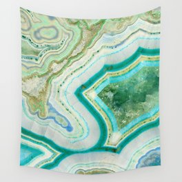 Sea Spray Crystal Agate Slice Wall Tapestry