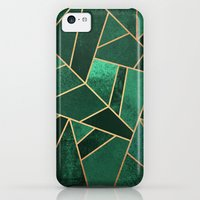 iPhone 5c Case featuring Emerald and Copper by Elisabeth Fredriksson