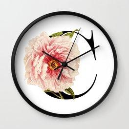 Secret Garden in Letter C / with Vintage Feel Wall Clock