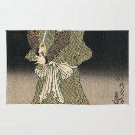 Utagawa Kunisada - An Actor In The Role Of Akugenta Yoshihra. Rug