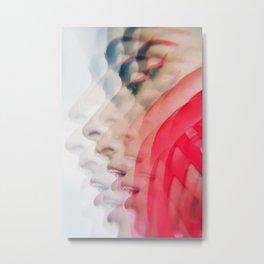 Modern Red Lines Metal Print