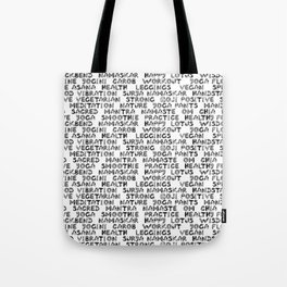 yoga text Tote Bag