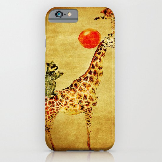 By playing on the giraffe iPhone & iPod Case