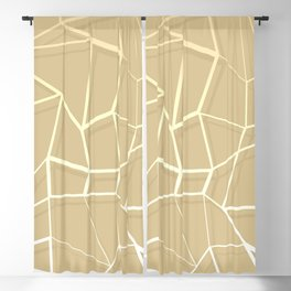 Floating Shapes Gold - Mid-Century Minimalist Graphic Blackout Curtain