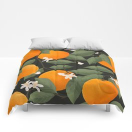 fresh citrus // dark Comforters